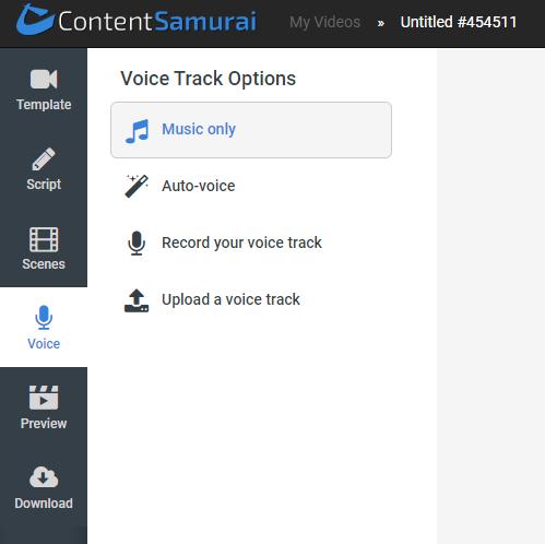 content samurai voice